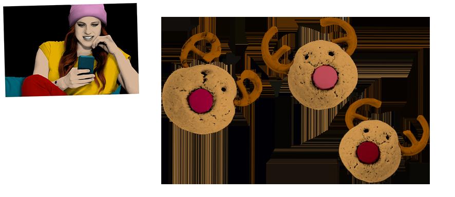 Caro - Amerikanische Cookies in Rentierform