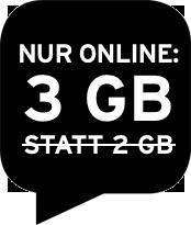 Nur online: 3 GB