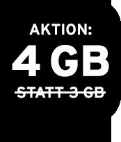Jetzt 4 GB statt 3 GB