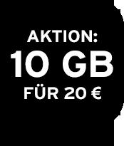 10 GB für 20 €