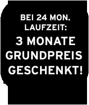 Bei 24 Monaten Laufzeit: 3 Monate Grundpreis geschenkt!