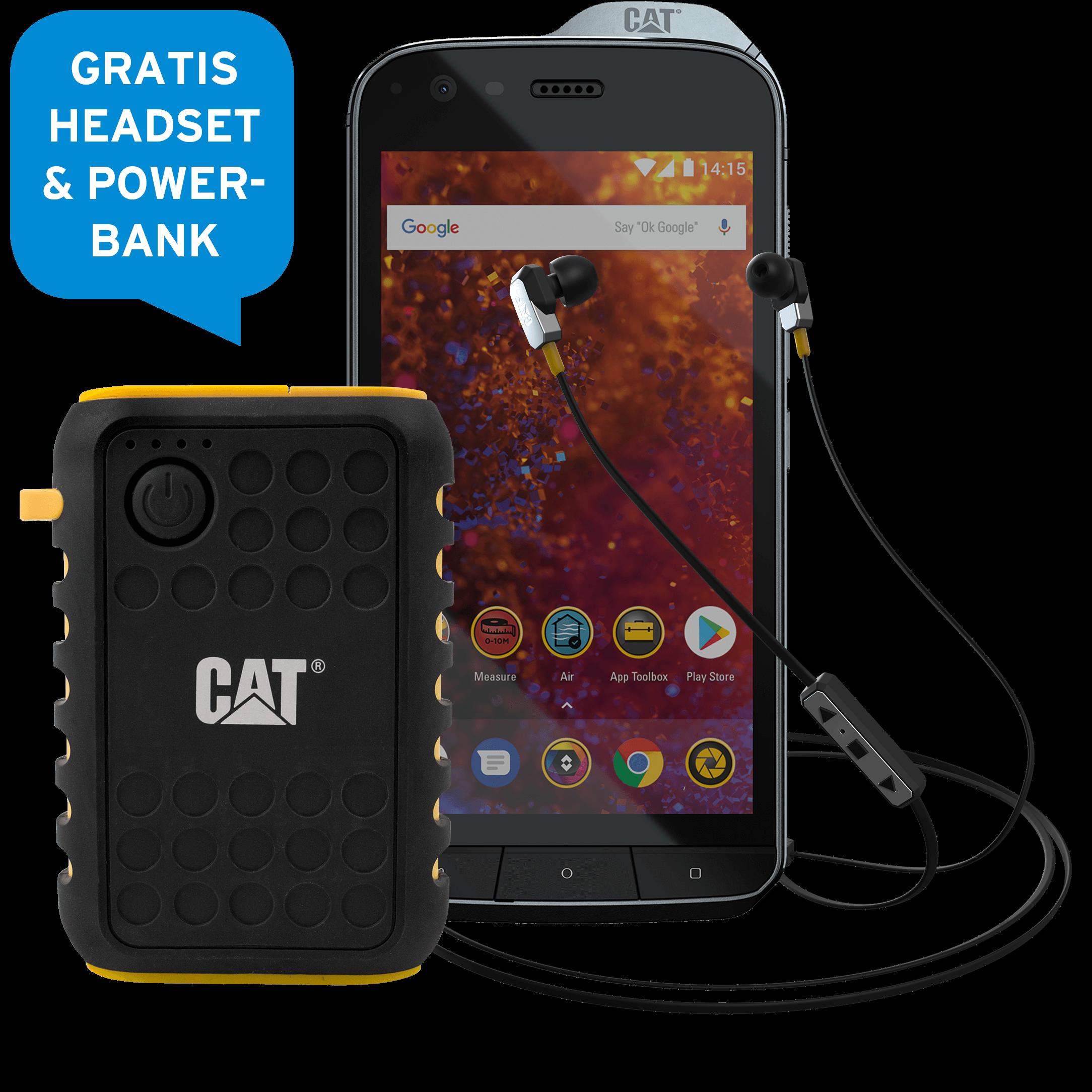 Günstig Kaufen beim Preisvergleich-CAT S61 64 GB schwarz Premium Bundle mit Allnet Flat L