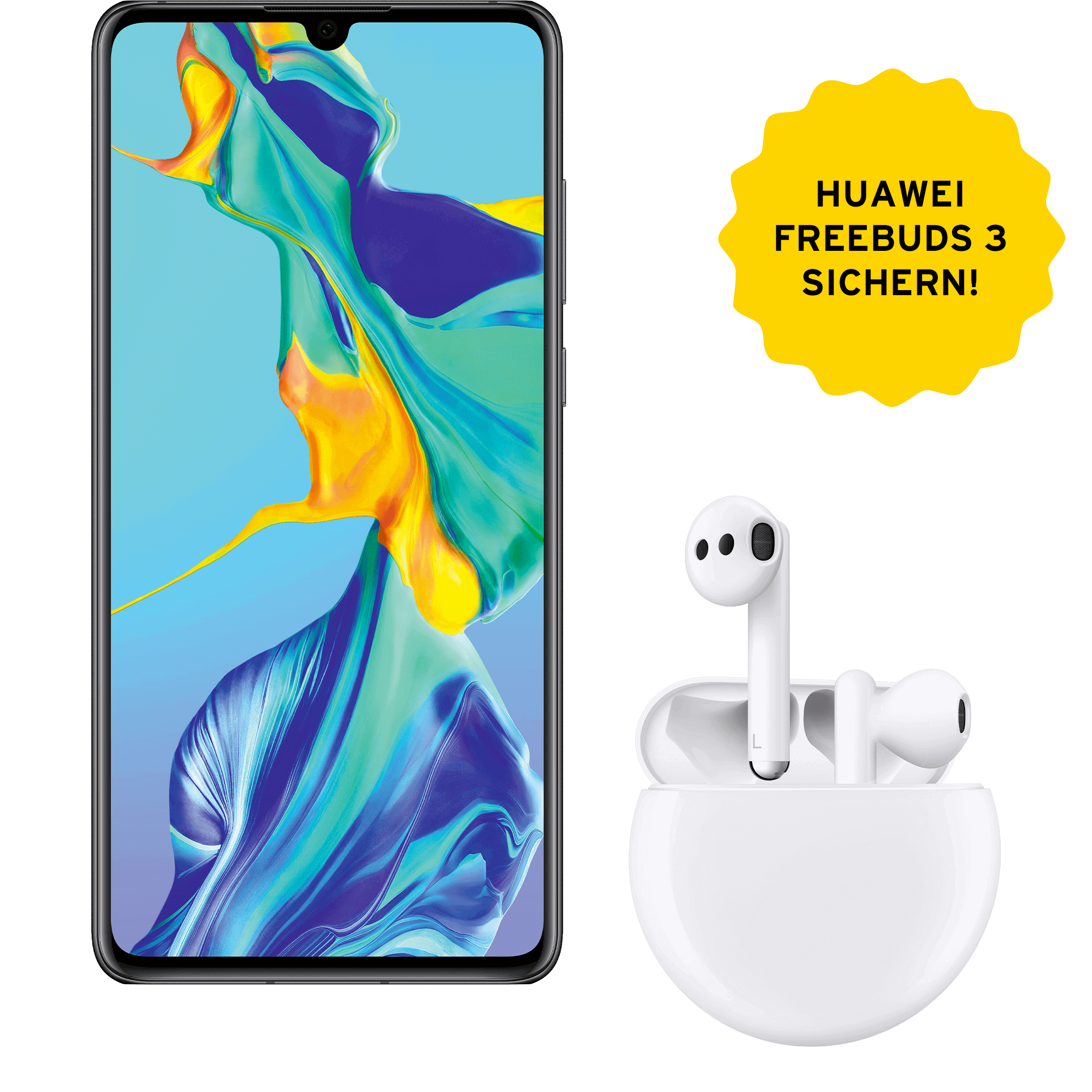 Günstig Kaufen beim Preisvergleich-Huawei P30 128 GB schwarz mit Allnet Flat L