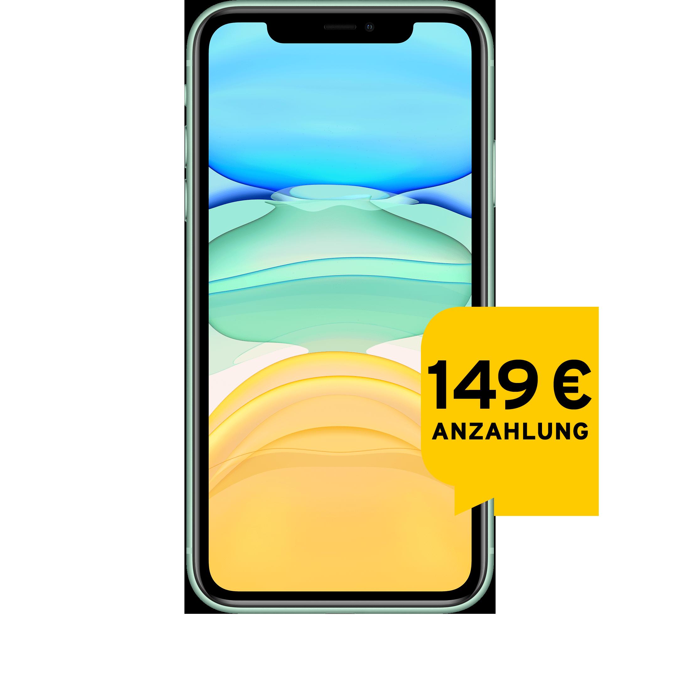 Günstig Kaufen beim Preisvergleich-Apple iPhone 11 128 GB grün Aktion mit Allnet Flat L