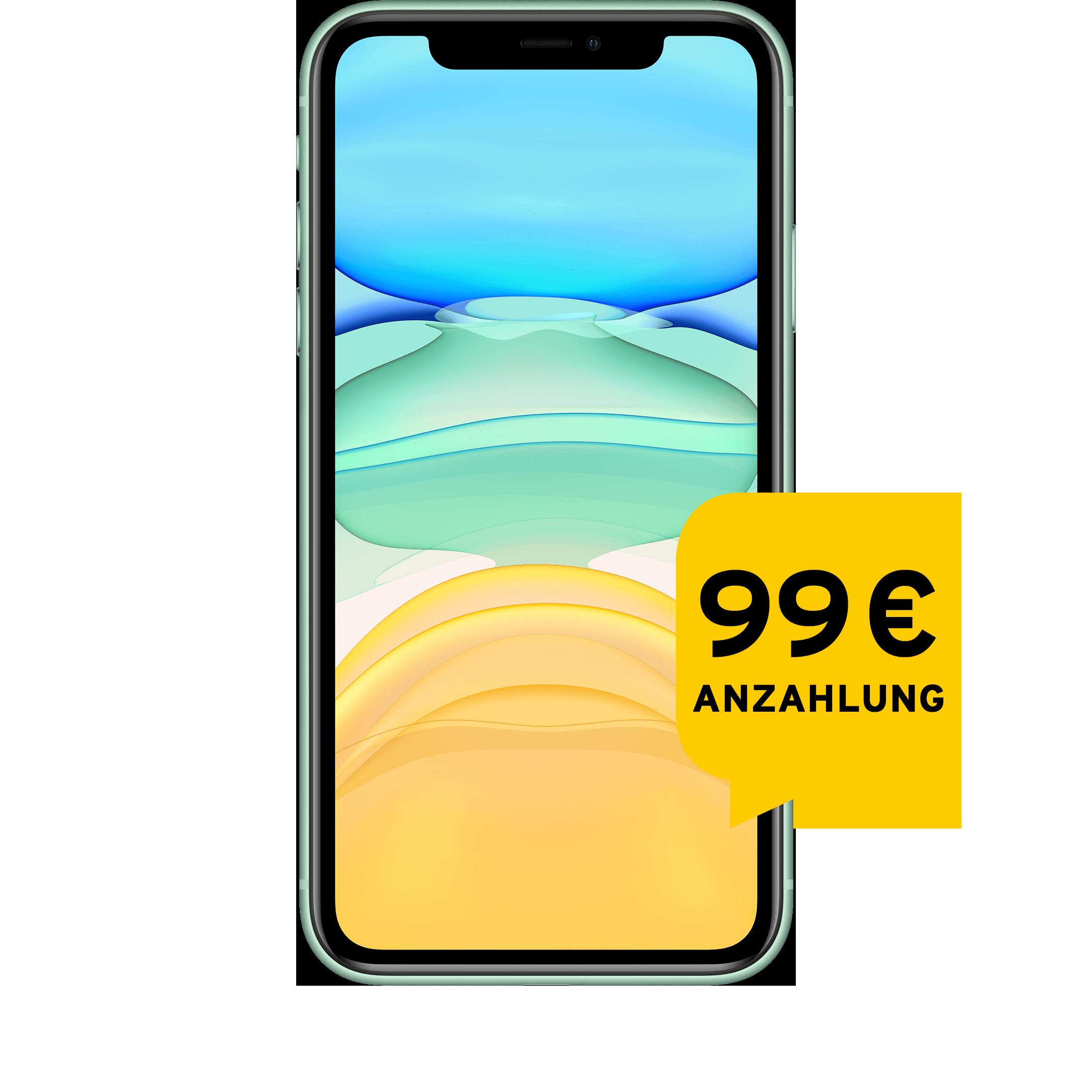 Günstig Kaufen beim Preisvergleich-Apple iPhone 11 64 GB grün Aktion mit Allnet Flat L