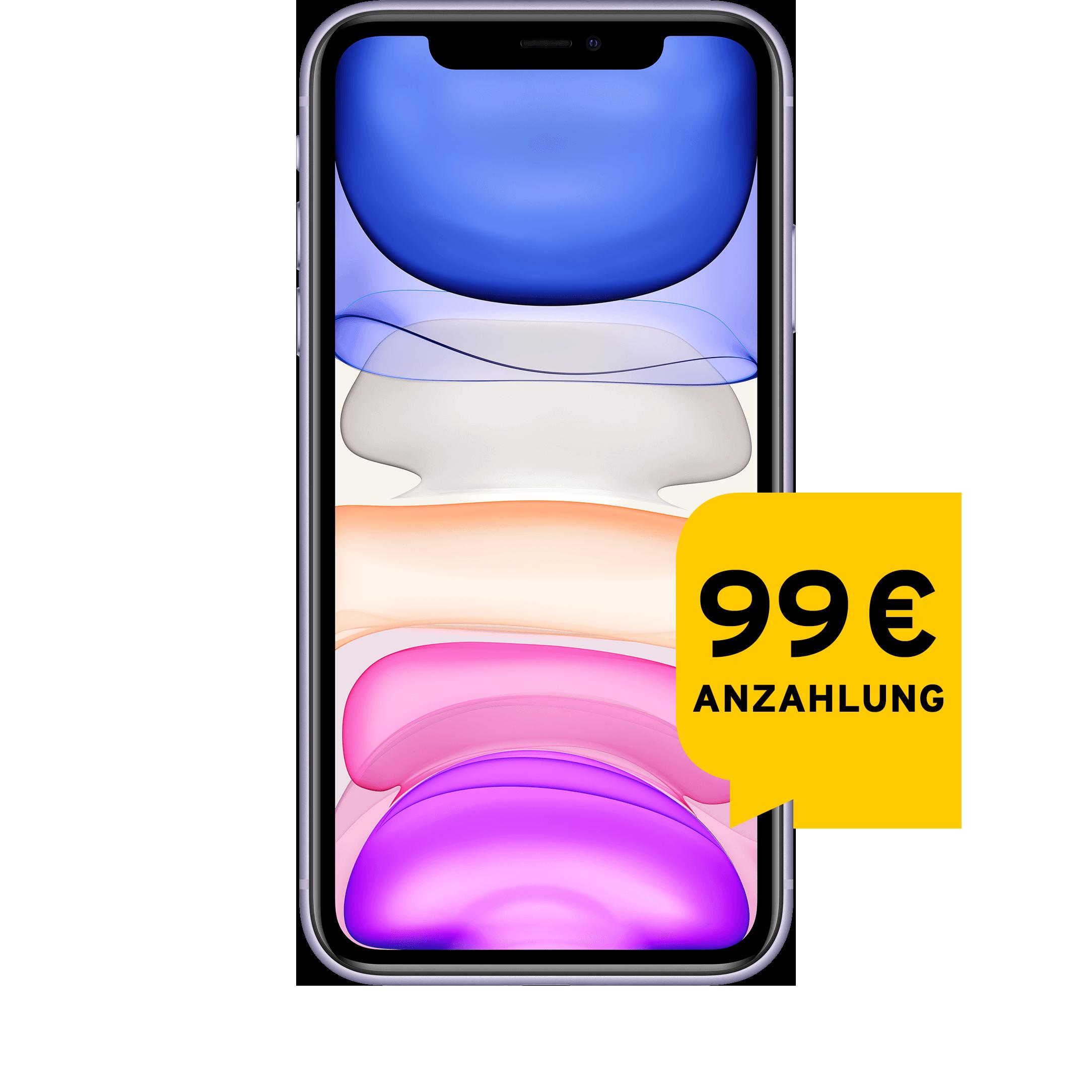 Günstig Kaufen beim Preisvergleich-Apple iPhone 11 64 GB violett Aktion mit Allnet Flat L
