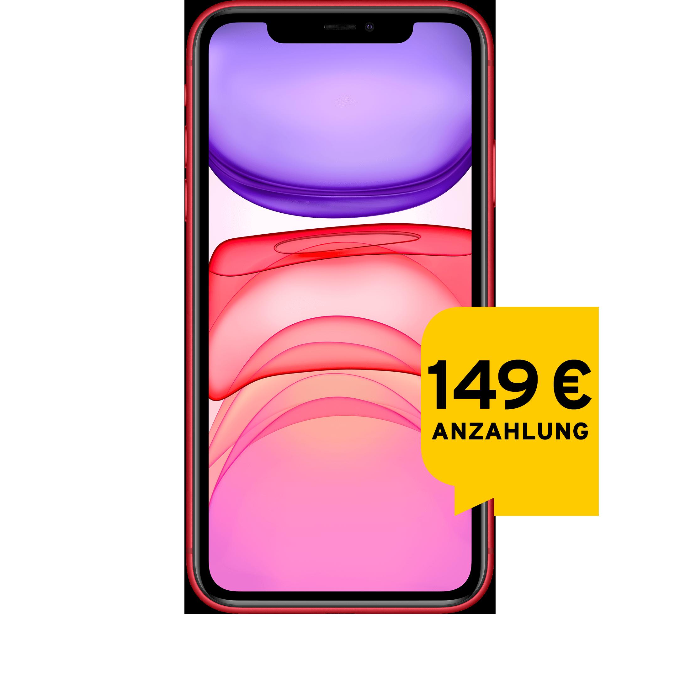 Günstig Kaufen beim Preisvergleich-Apple iPhone 11 128 GB rot Aktion mit Allnet Flat L