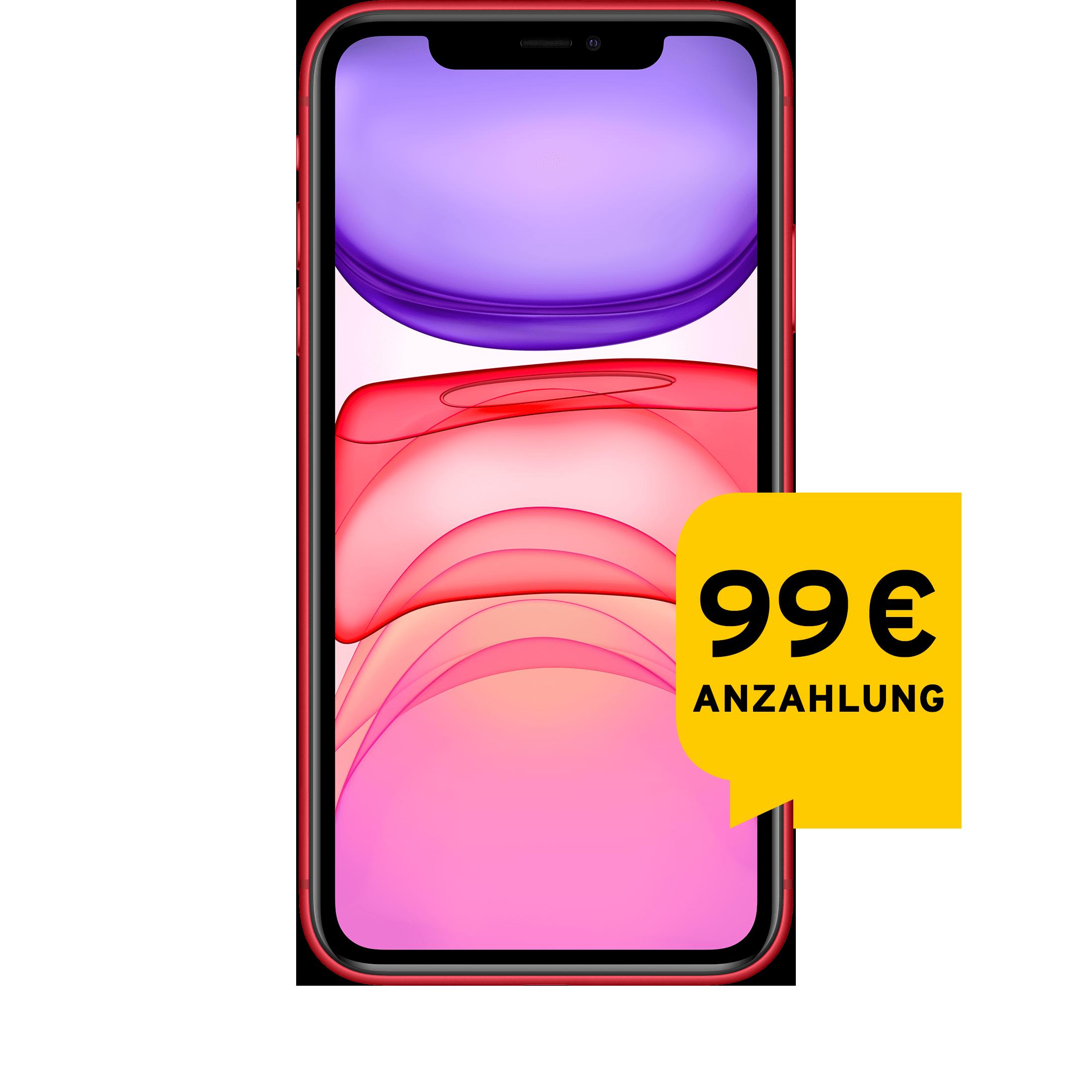 Günstig Kaufen beim Preisvergleich-Apple iPhone 11 64 GB rot Aktion mit Allnet Flat L