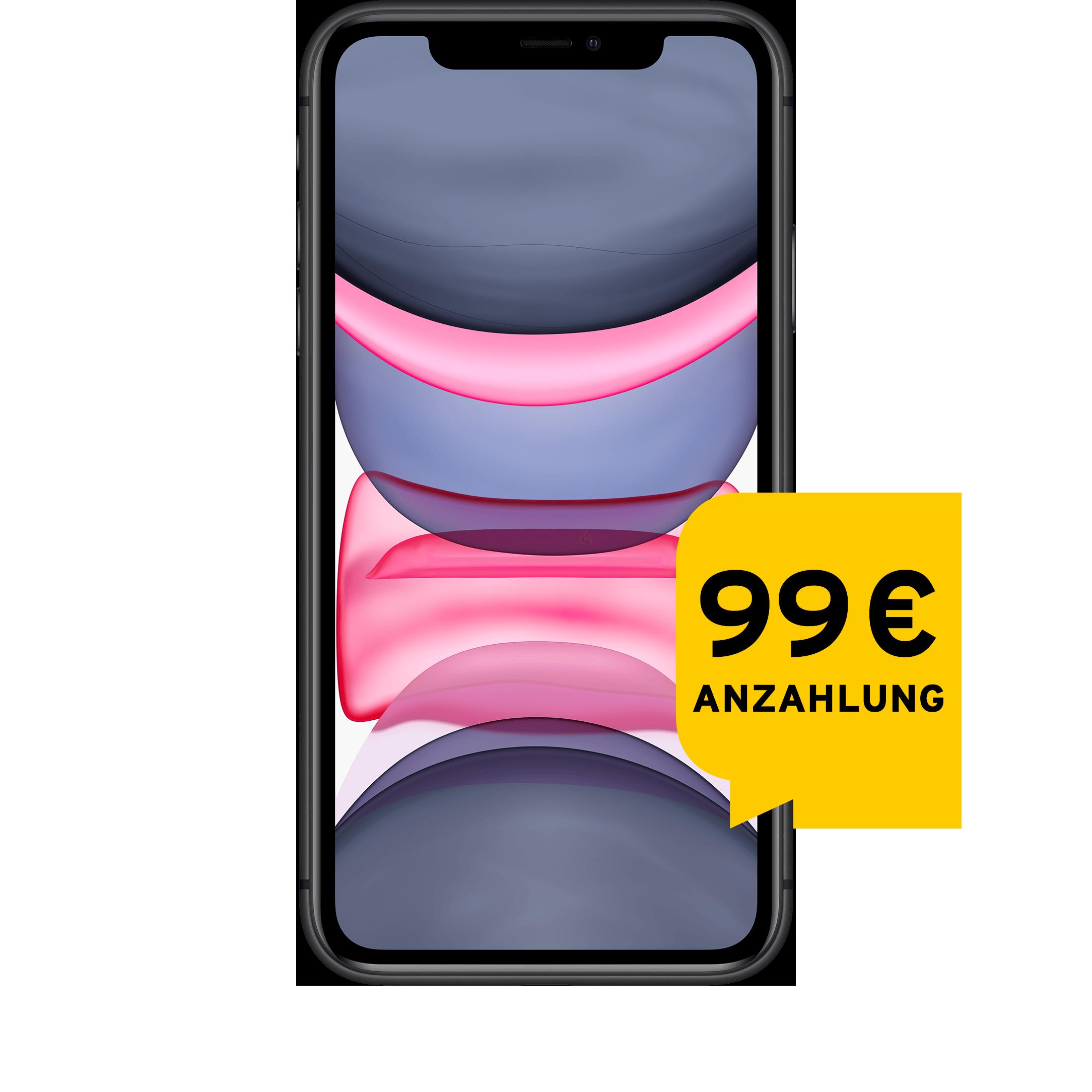 Günstig Kaufen beim Preisvergleich-Apple iPhone 11 64 GB schwarz Aktion mit Allnet Flat L