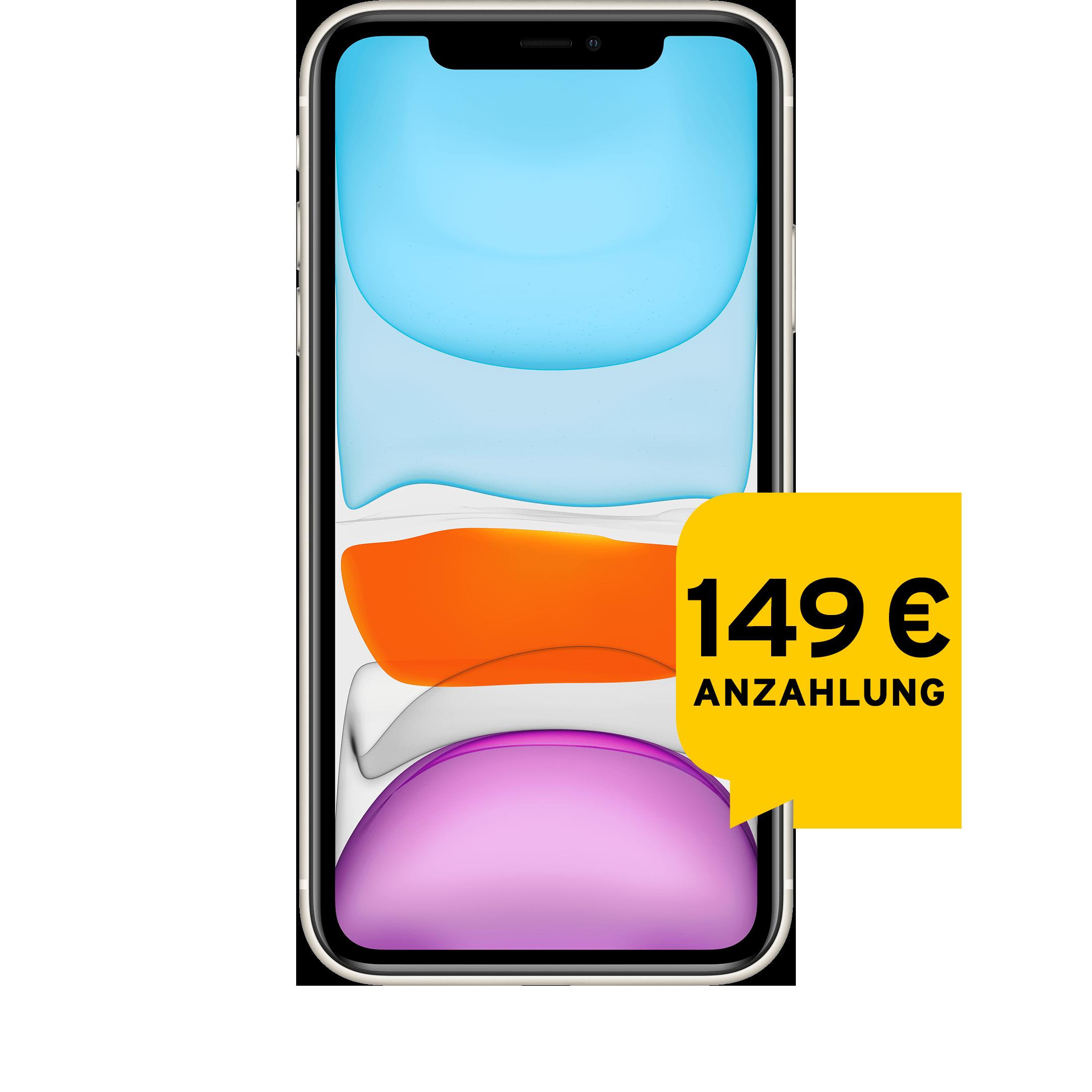Günstig Kaufen beim Preisvergleich-Apple iPhone 11 128 GB weiß Aktion mit Allnet Flat L