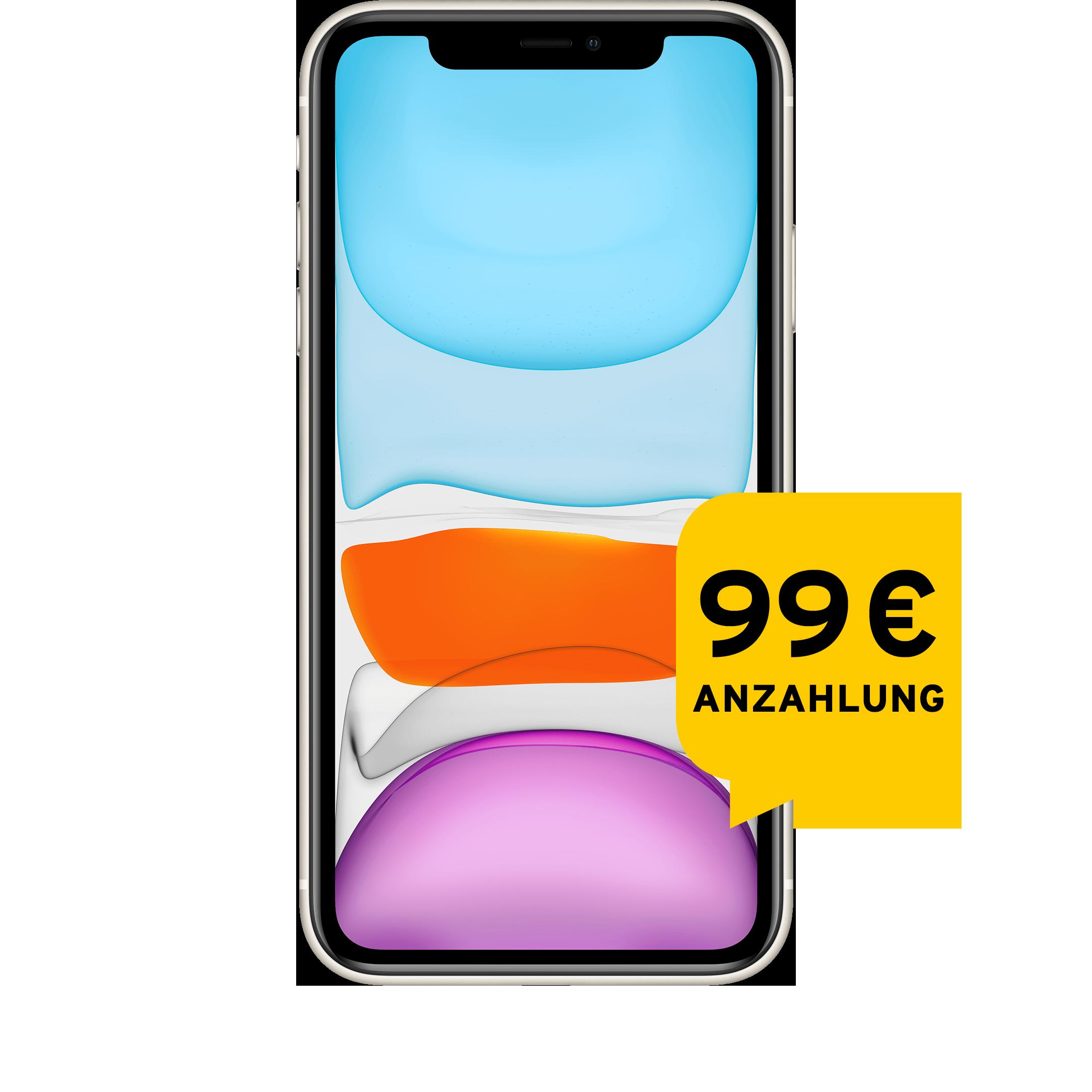 Günstig Kaufen beim Preisvergleich-Apple iPhone 11 64 GB weiß Aktion mit Allnet Flat L