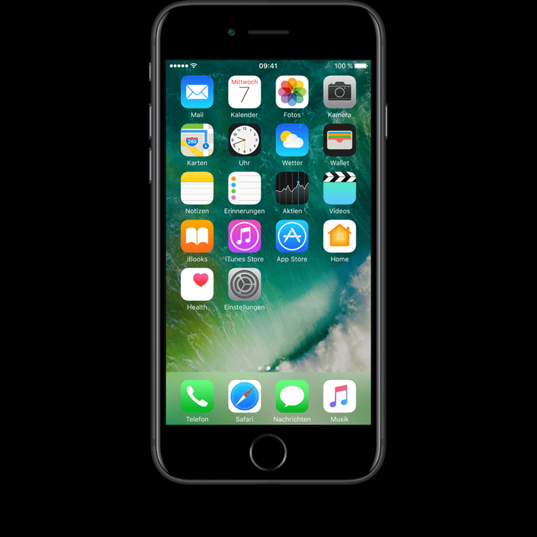 Günstig Kaufen beim Preisvergleich-Apple iPhone 7 128 GB schwarz mit Allnet Flat