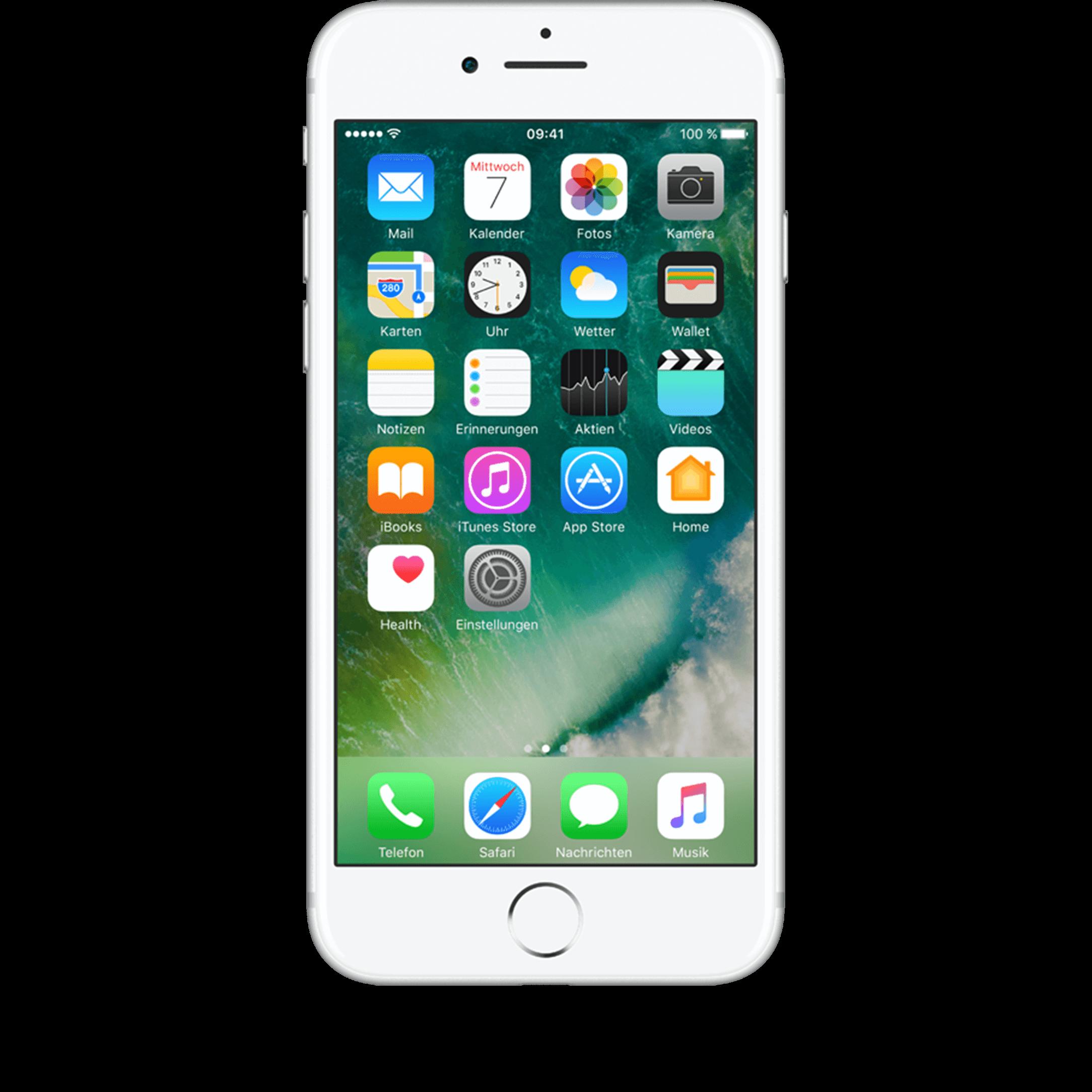 Günstig Kaufen beim Preisvergleich-Apple iPhone 7 32 GB silber mit Allnet Flat Plus Flex