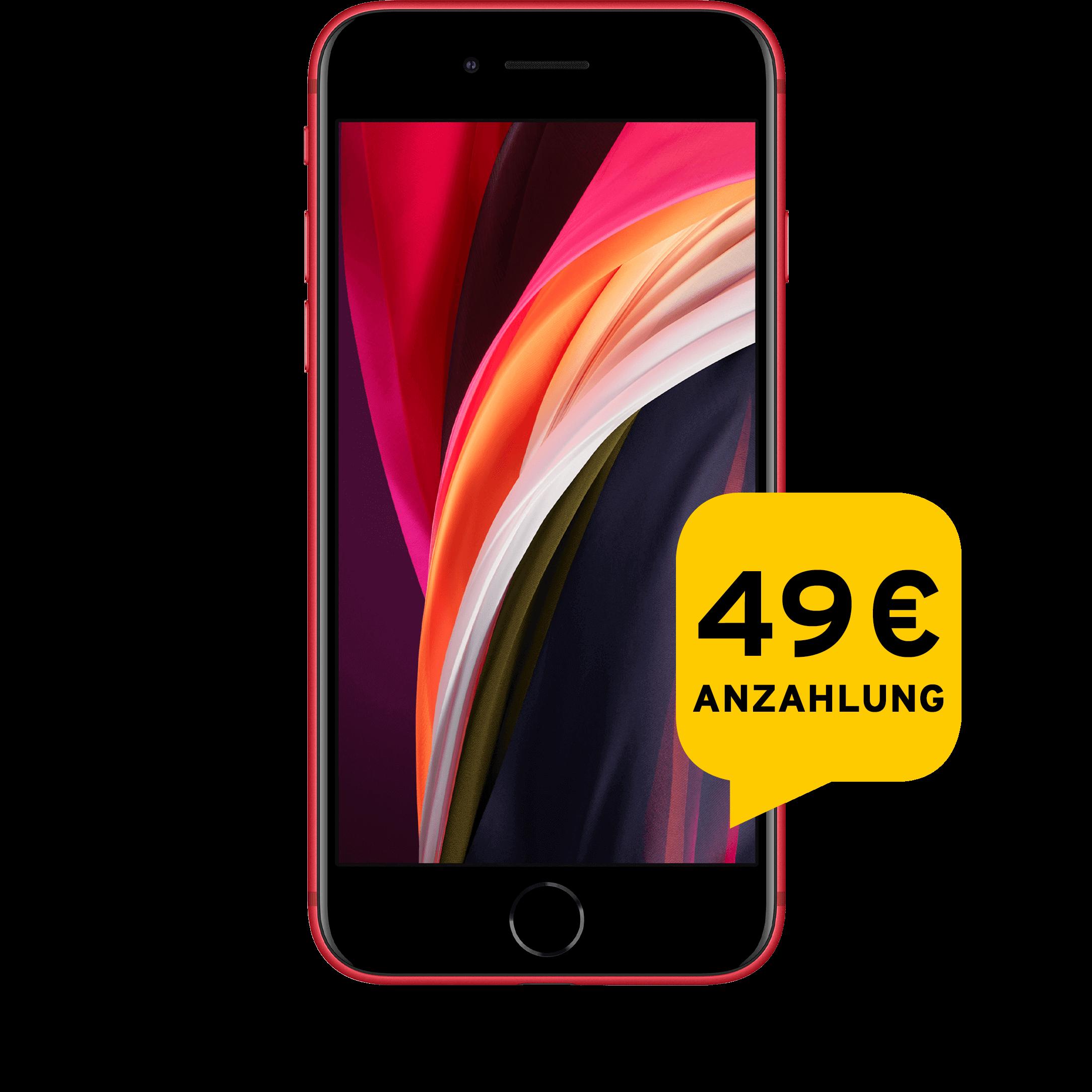 Günstig Kaufen beim Preisvergleich-Apple iPhone SE 2020 64 GB rot Aktion mit Allnet Flat Plus