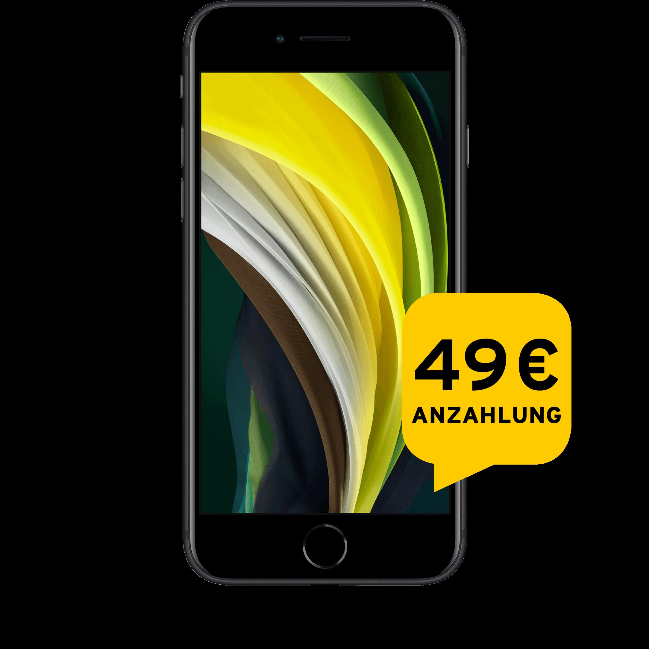 Günstig Kaufen beim Preisvergleich-Apple iPhone SE 2020 64 GB schwarz Aktion mit Allnet Flat Plus