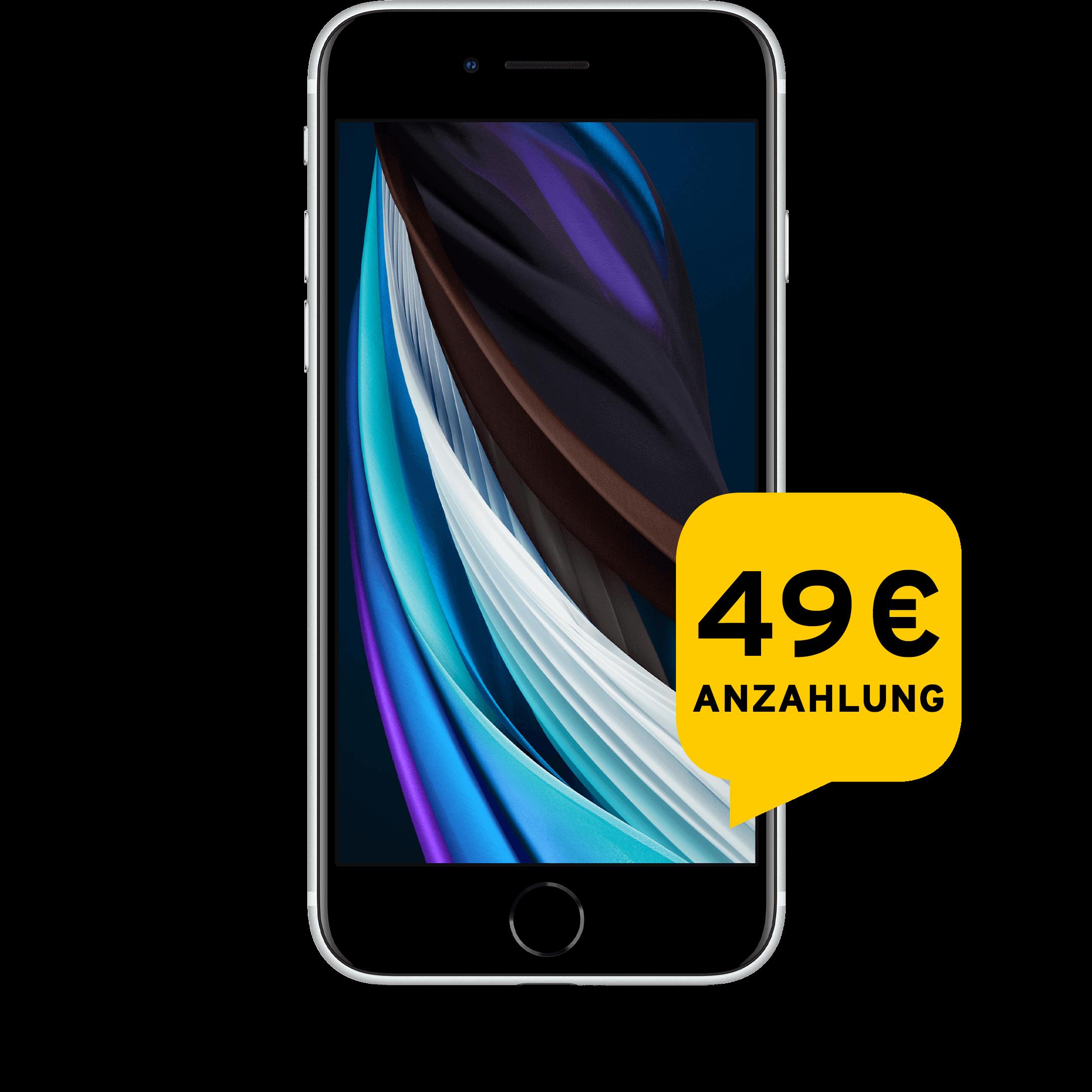Günstig Kaufen beim Preisvergleich-Apple iPhone SE 2020 64 GB weiß Aktion mit Allnet Flat Plus