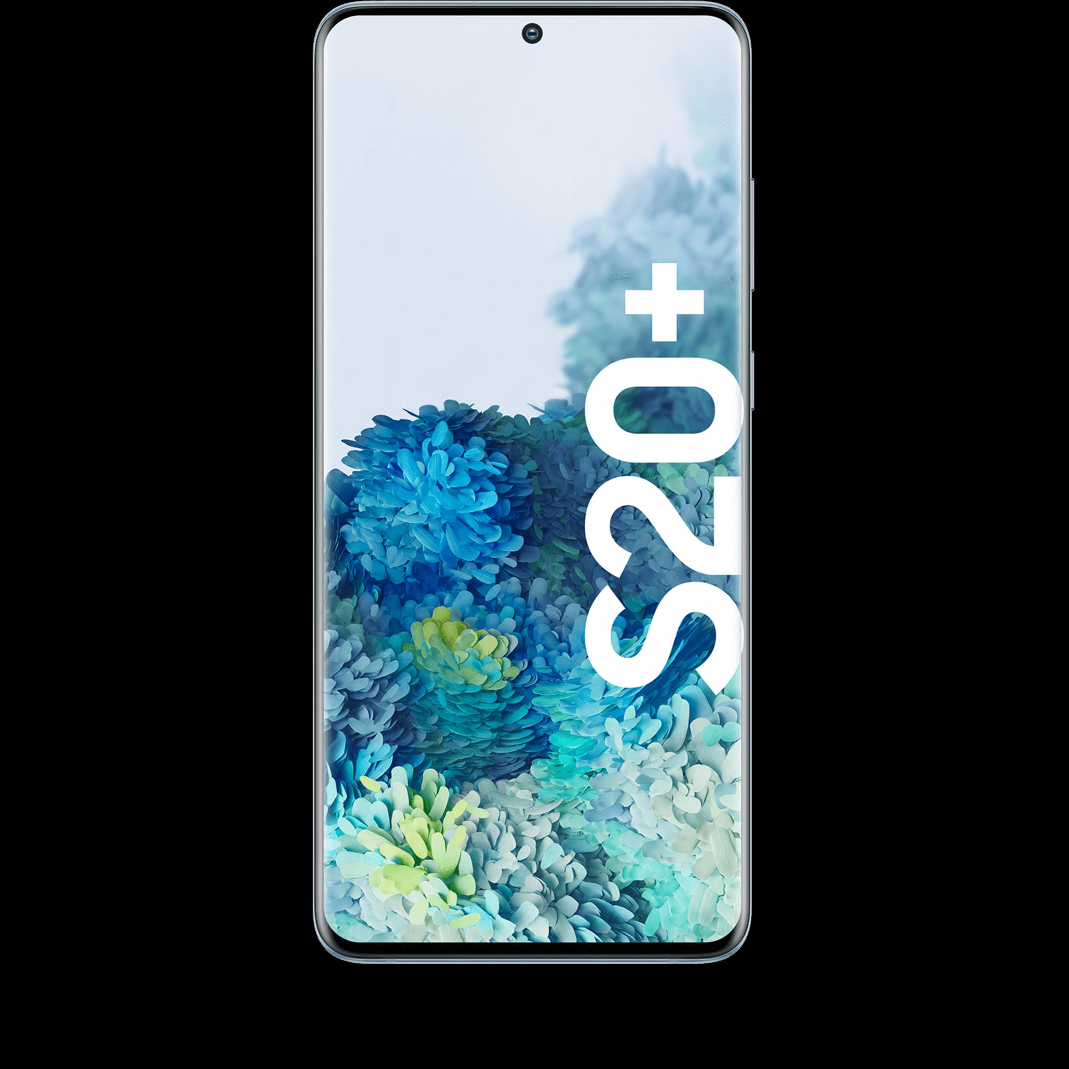 Günstig Kaufen beim Preisvergleich-Samsung Galaxy S20+ 128 GB light blue mit Allnet Flat L