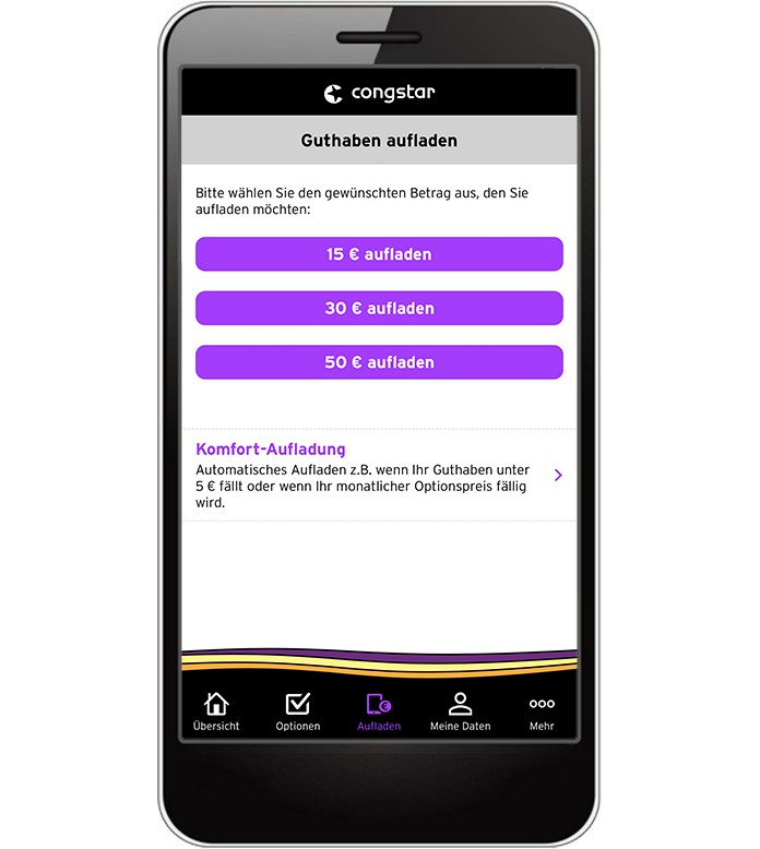 meincongstar App - Guthaben