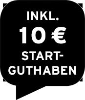 Inklusive 10 € Startguthaben