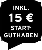 Inklusive 15 € Startguthaben