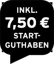 Inklusive 7,50 € Startguthaben