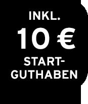 Inklusive 10€ Startguthaben