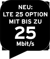 LTE 25 zubuchen!