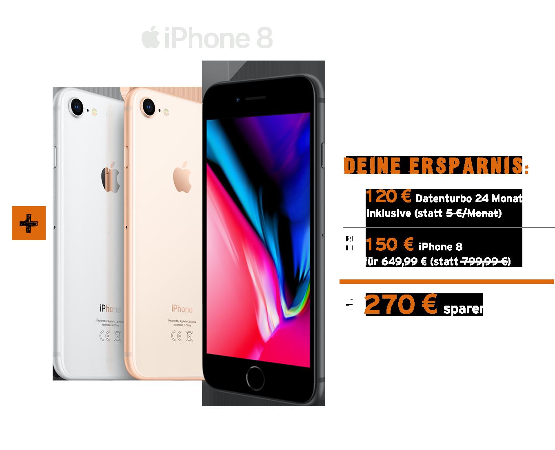 Allnet Flat mit iPhone 8 bestellen und Ersparnis sichern!